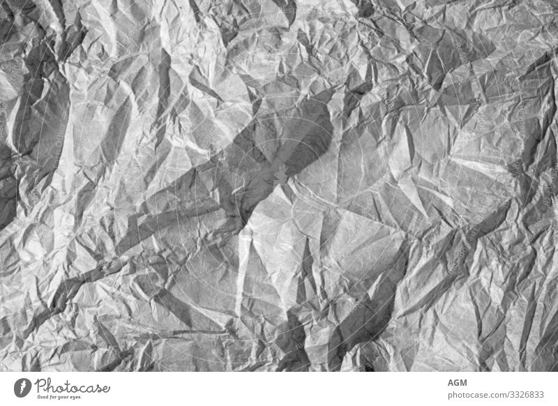 Texture background crumpled paper Stationery Paper Piece of paper Work and employment Aggression Sharp-edged Gray Stress Fear Business Chaos Colour Frustration