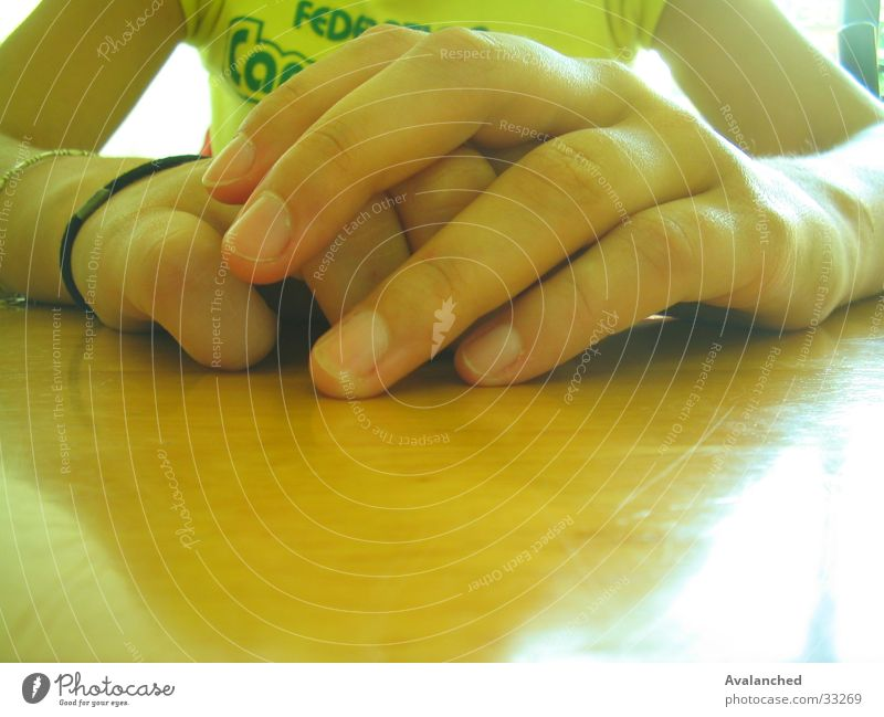 hands Hand Nail Table Wood Human being Arm madness