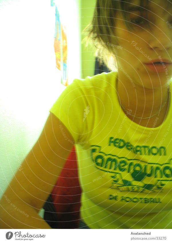 feminine .. Woman Yellow girl