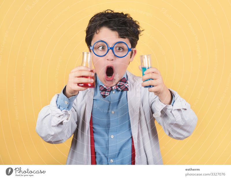 crazy scientific child Lifestyle Education Science & Research Child School Student Laboratory Examinations and Tests Human being Masculine Boy (child) Infancy 1
