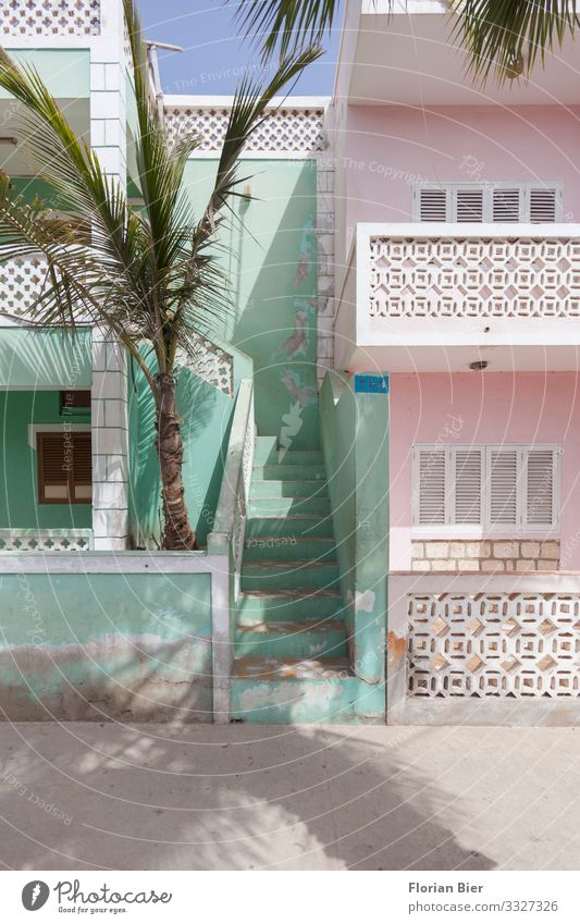 live better Santa Maria Cabo Verde Africa House (Residential Structure) Detached house Architecture Wall (barrier) Wall (building) Stairs Facade Balcony