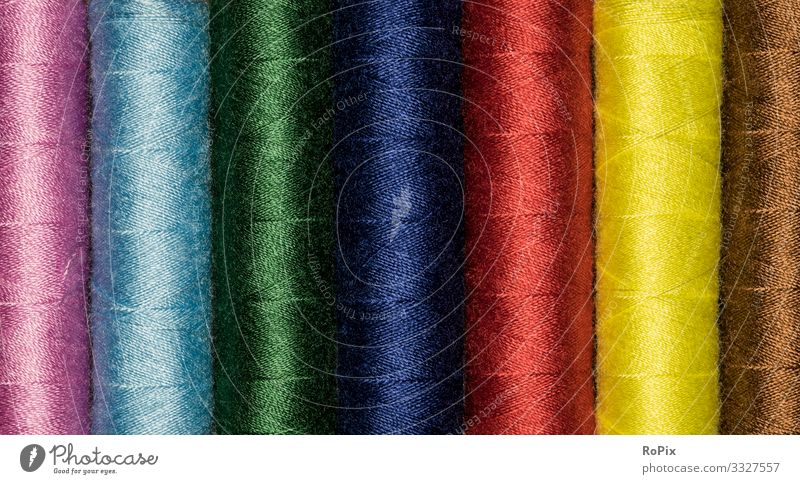 Set of colorful stiching twine. Lifestyle Elegant Style Design Leisure and hobbies Handicraft Handcrafts Knit Living or residing Education Professional training