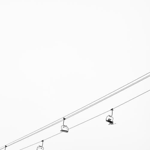 Up! Vacation & Travel Winter Snow Winter vacation Sports Winter sports Skiing Skis Snowboard Ski lift Ski run 2 Human being Cable car Growth Success Silver