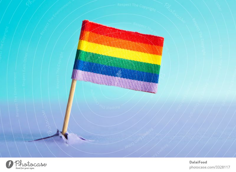 LGBT flag coming out of a mountain (concept) Mountain Homosexual Sky Flag Blue Future background Banner colorful Conceptual design concept appears lgbt lgbtq