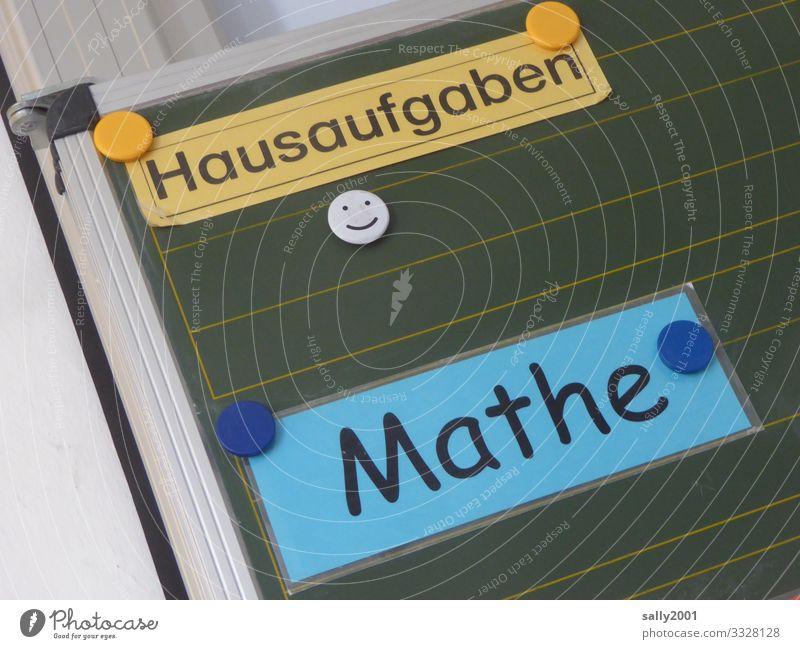 Homework math... Blackboard Math Mathematics School Elementary school Secondary School Magnet writing sign laminated Study classroom Education Calculation