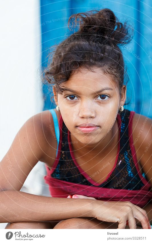 beauty girl III , camaguey - cuba Child Human being Vacation & Travel Youth (Young adults) Young woman Blue Beautiful Hand Girl Black 18 - 30 years Face Street