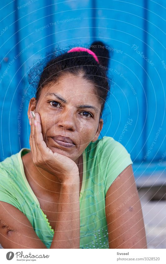 young grandmother, camaguey - cuba Woman Human being Vacation & Travel Blue Beautiful Green Hand Black Face Street Eyes Lifestyle Adults Natural Feminine