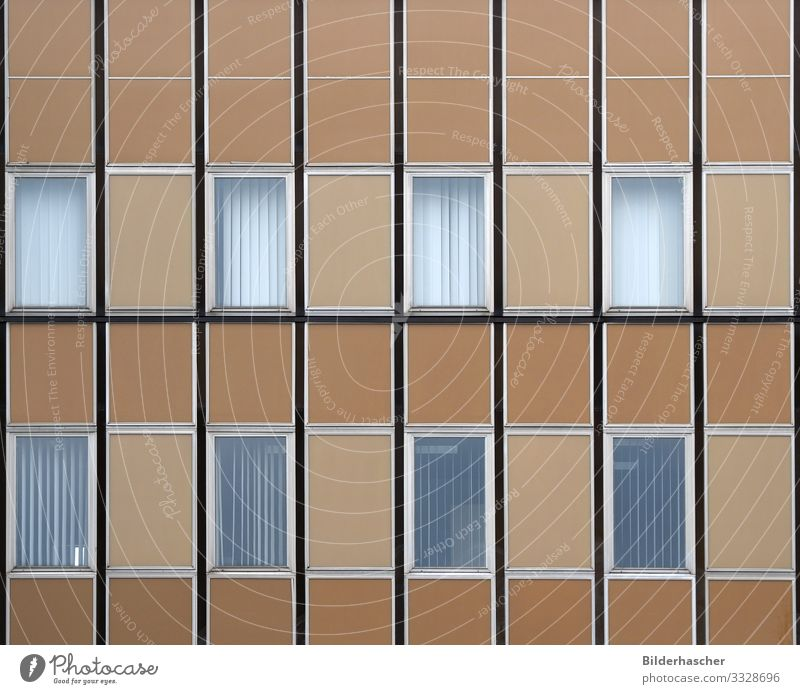House facade with windows Window Window frame Office building New building Window pane Glass Architecture Detail Brown Beige Building Facade Ancient Frame