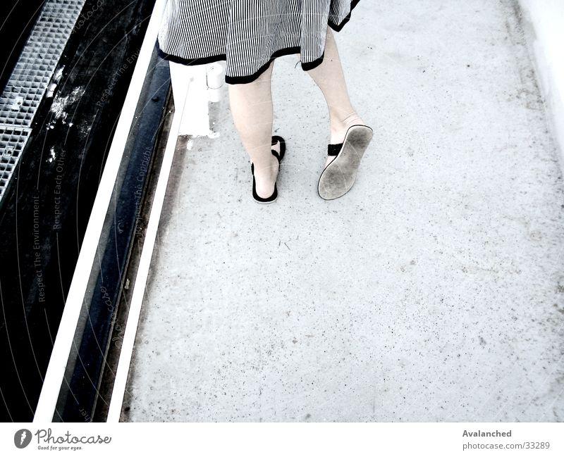 mygirlfriendsFeet1 Edge Woman sandals Legs white floor little girl timidly