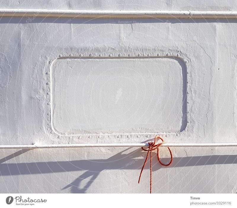 The hardest window in Hamburg Navigation Inland navigation Boating trip Passenger ship Ferry Watercraft Harbour boot window Strick rope Window Railing Bright