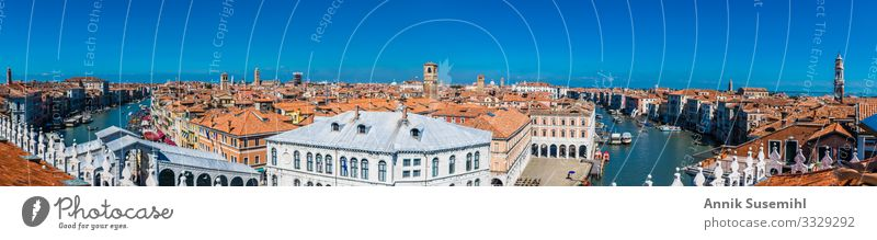 Panorama over the Grand Canal in Venice Art Architecture Culture Water Beautiful weather Italy Town Port City Downtown Deserted House (Residential Structure)
