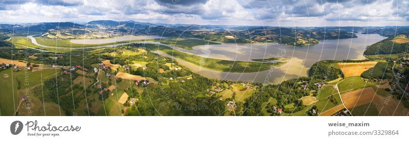 Panorama View of Lake, reservoir on river Vacation & Travel Tourism Trip Adventure Far-off places Freedom Sightseeing Summer Mountain Living or residing