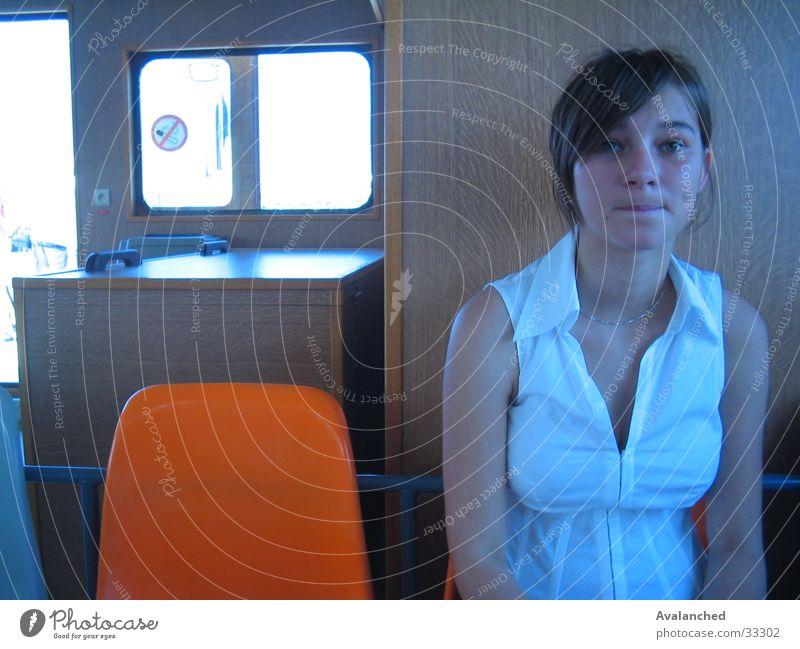 Woman Window Wood Gray Watercraft Chair Shoot