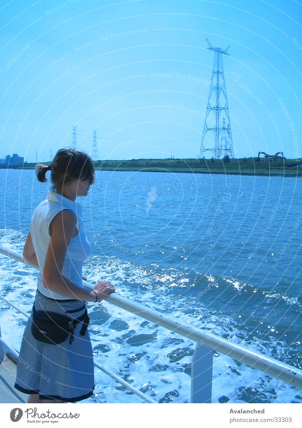 Woman Water Ocean Watercraft Edge