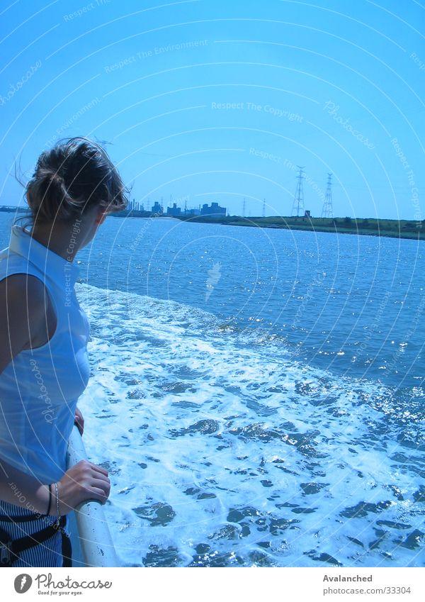 little girl to the sea Ocean Watercraft Edge Woman foam rubber varen verte