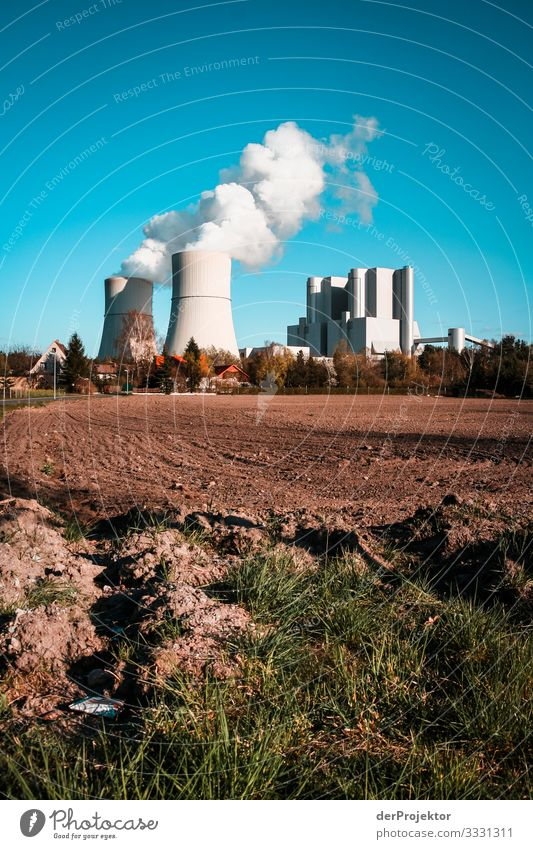 Coal-fired power station Schwarze Pumpe Technology Advancement Future Energy industry Coal power station Aggression Old Hideous Coal-mining area Fossil