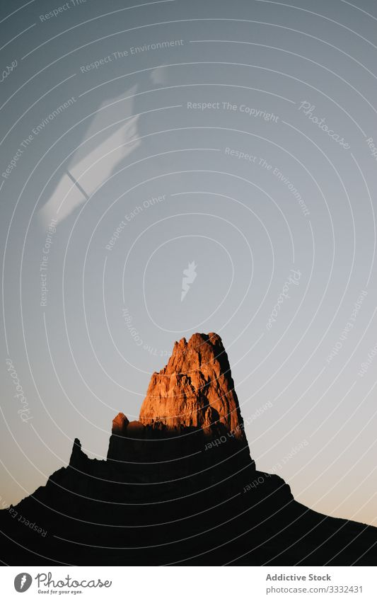 Mountain in canyon at sunrise mountain rock view nature landscape dark sky overlook journey travel vacation usa summer state america resort stone scenic hill