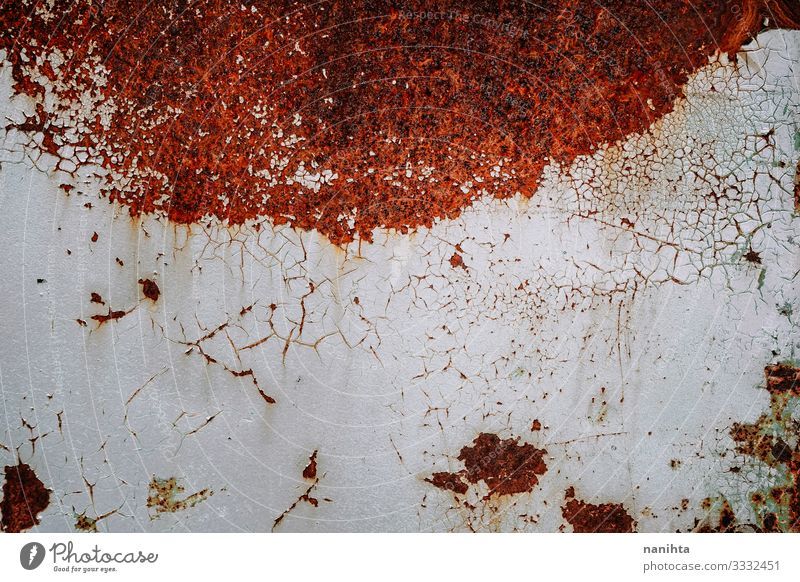 Rusty texture with cracked paint grunge rusty real old rusted oxidiced wallpaper surface dark faded image resource abstract contrast color textured coarse