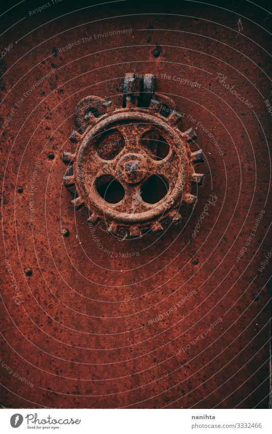 Details of an old metalic industry equipment Wallpaper Industry Metal Rust Old Faded Dirty Dark Retro Red Black Grunge crustle vintage Ancient dated rusted