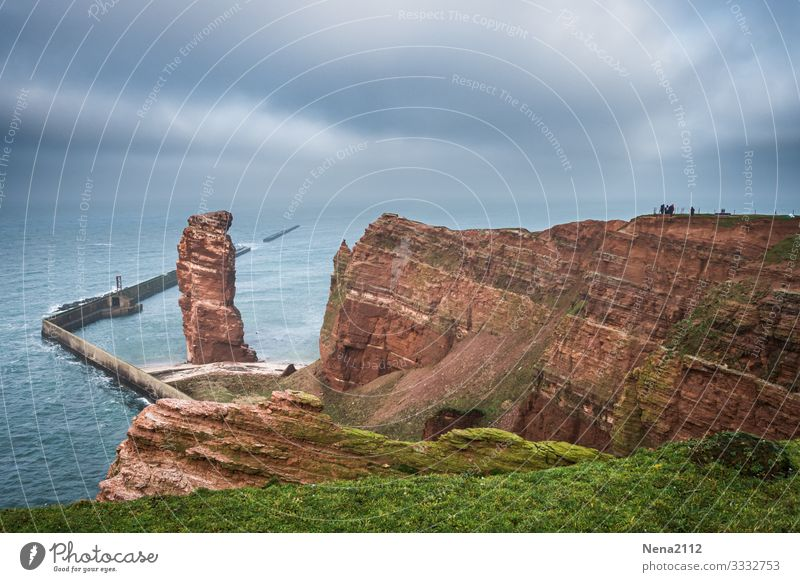 Helgoland die lange Anna helgoland dielangeanna felsen nordsee insel nordseeinsel Exterior shot himmel wolken wetter landschaft küste