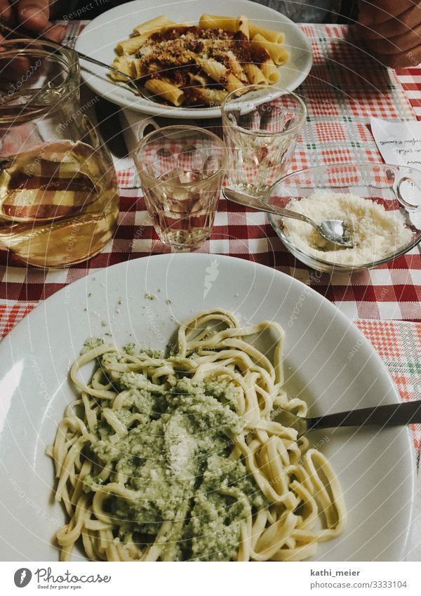 pasta alla genovese Food Dough Baked goods Nutrition Eating Lunch Organic produce Beverage Wine Crockery Diet Drinking Vacation & Travel Restaurant Italy
