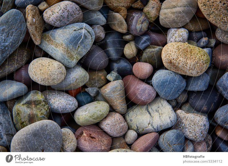 coloured stones Nature Landscape coast Lakeside Ocean Stone Force Art Dream Vacation & Travel Thought Pebble Gravel beach Multicoloured Calm Resting point