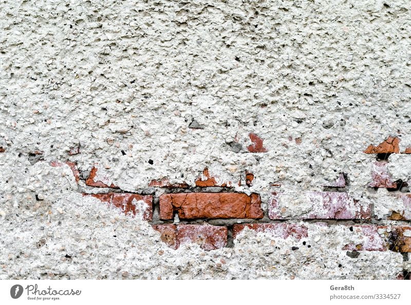 texture of old brick wall with plaster Brick Old Dirty Gray Blank Brick wall Crack & Rip & Tear Damage orange scruffy Surface template wall Consistency vintage
