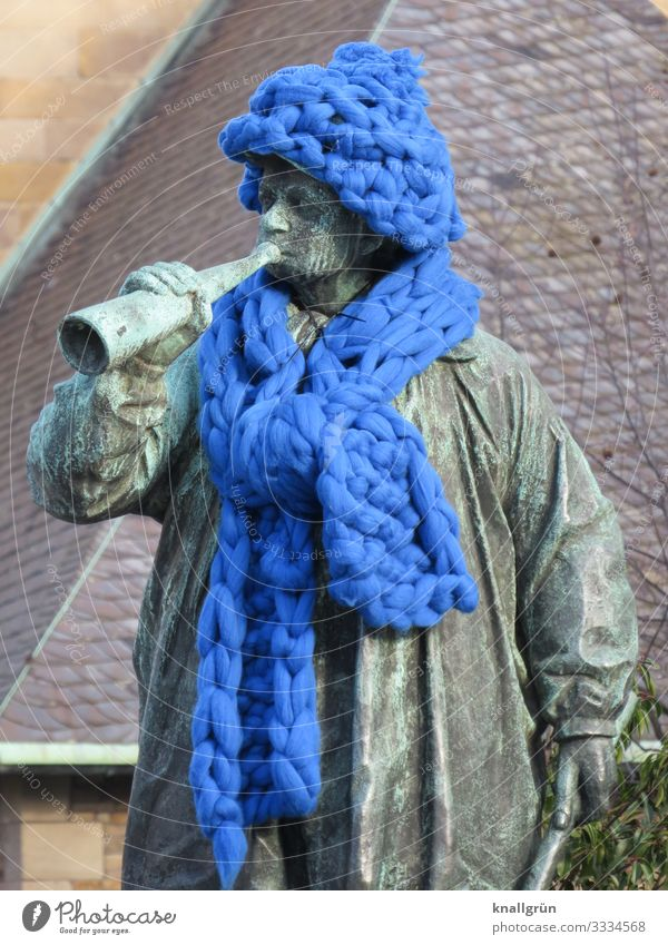 protection of historical monuments Downtown Monument Clothing Scarf Cap Wool Stand Exceptional Historic Warmth Blue Brown Green Emotions Joy Protection
