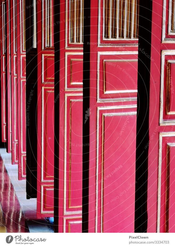 Red Door Lifestyle Style Design Exotic Vacation & Travel Trip Art Building Architecture Rotate Beautiful Moody Adventure Colour photo Exterior shot Close-up