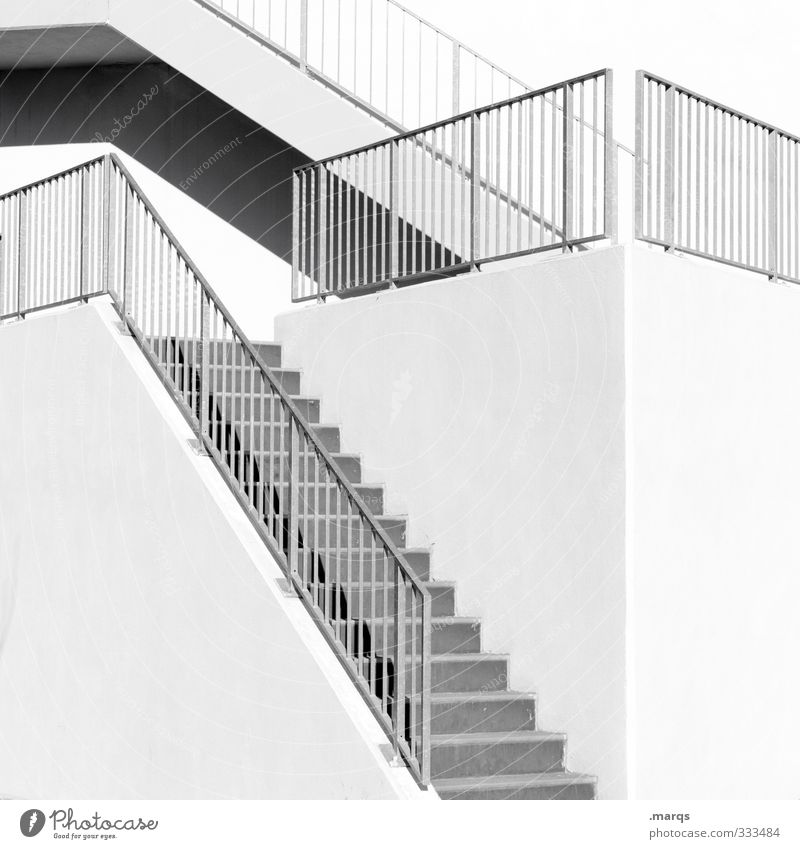 step by step Elegant Style Design Career Architecture Stairs Handrail Banister Bright Modern Beginning Esthetic Arrangement Lanes & trails Upward Go up Descent