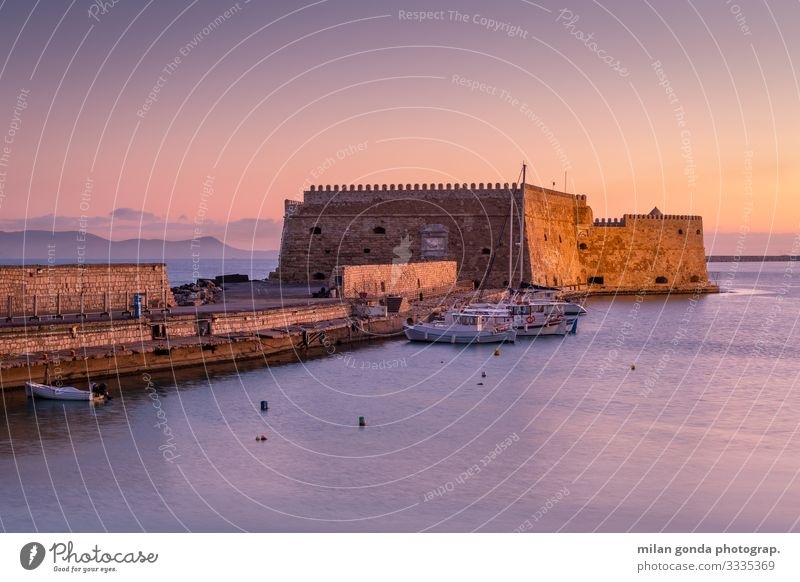 Heraklion Vacation & Travel Tourism Ocean Landscape Castle Harbour Fishing boat Watercraft Maritime Crete Greece Mediterranean Greek Europe port fortress