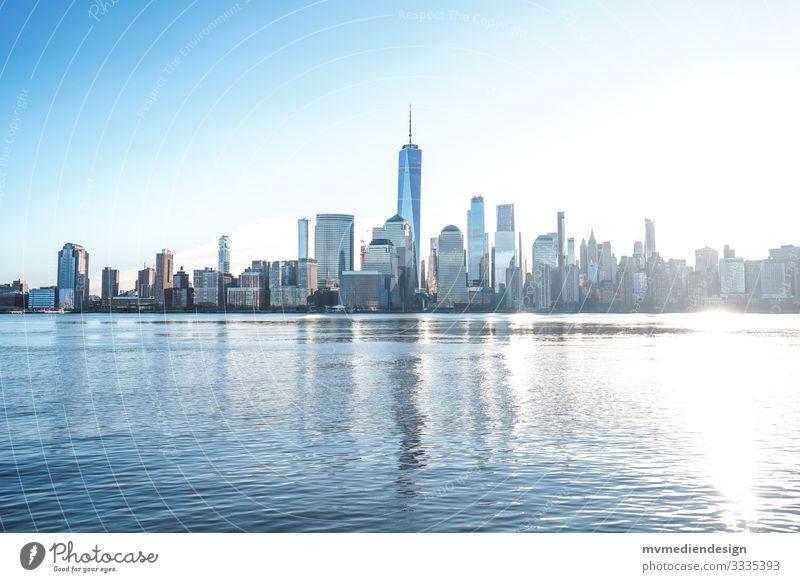 New York City skyline by day Skyline daylight during the day USA World Trade Center Hudson River Manhattan One World Trade Center Landmark Town Architecture