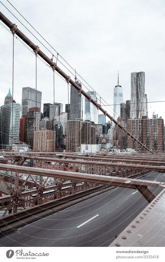 View from the Brooklyn Bridge New York City Manhattan Skyline