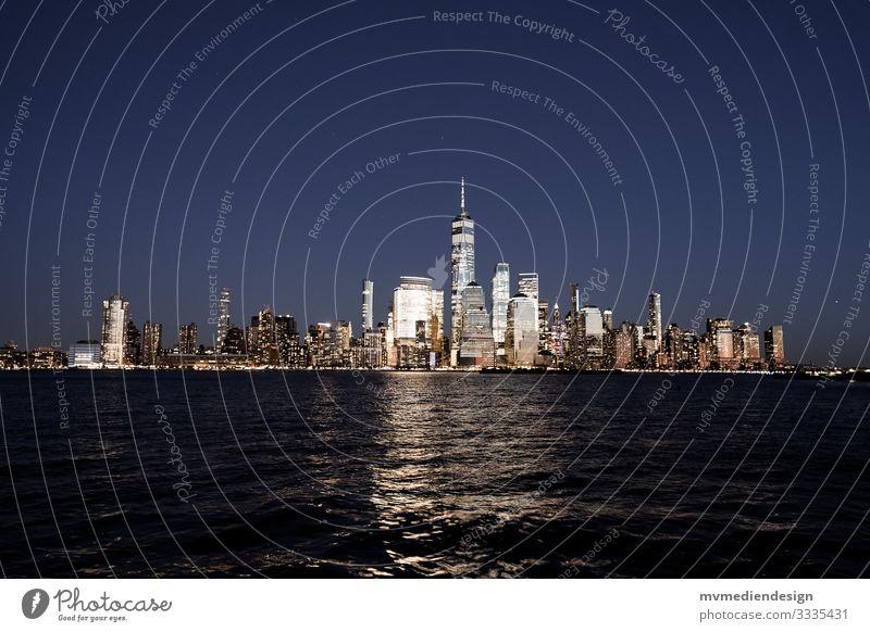 New York City Skyline at Night Manhattan clearer Hudson River