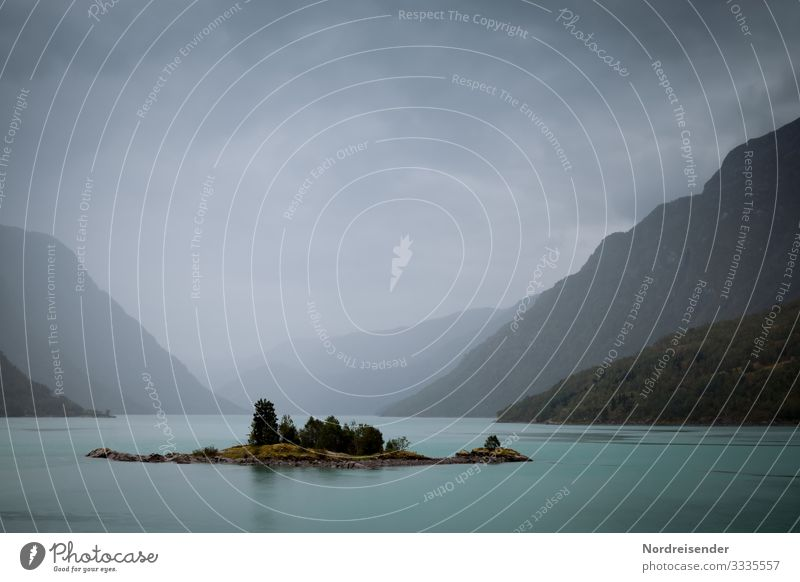 Norway in the rain Vacation & Travel Adventure Far-off places Freedom Expedition Nature Landscape Elements Water Sky Clouds Storm clouds Climate Bad weather Fog
