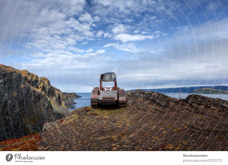 delusions of grandeur ... and what remains Expedition Machinery Technology Landscape Elements Water Sky Clouds Rock Coast Ocean Vehicle Sign Old Threat Dark