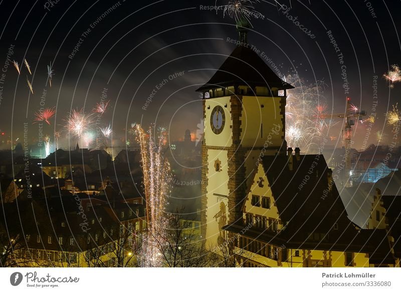turn of the year Vacation & Travel Sightseeing City trip New Year's Eve Environment Night sky Climate Climate change Freiburg im Breisgau Germany Europe