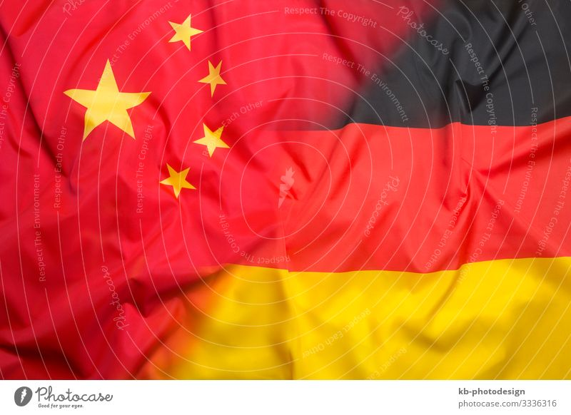 Flag of Chinese Republic and flag of Germany Business China Airport Politics and state Vacation & Travel flags tourism nation International transactions Global