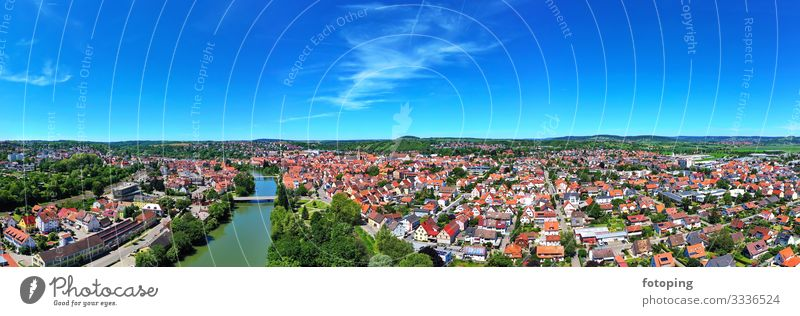 Rottenburg on the Neckar Beautiful Tourism Trip Far-off places Sightseeing City trip Summer Sun Weather Town Old town Bridge Architecture Tourist Attraction