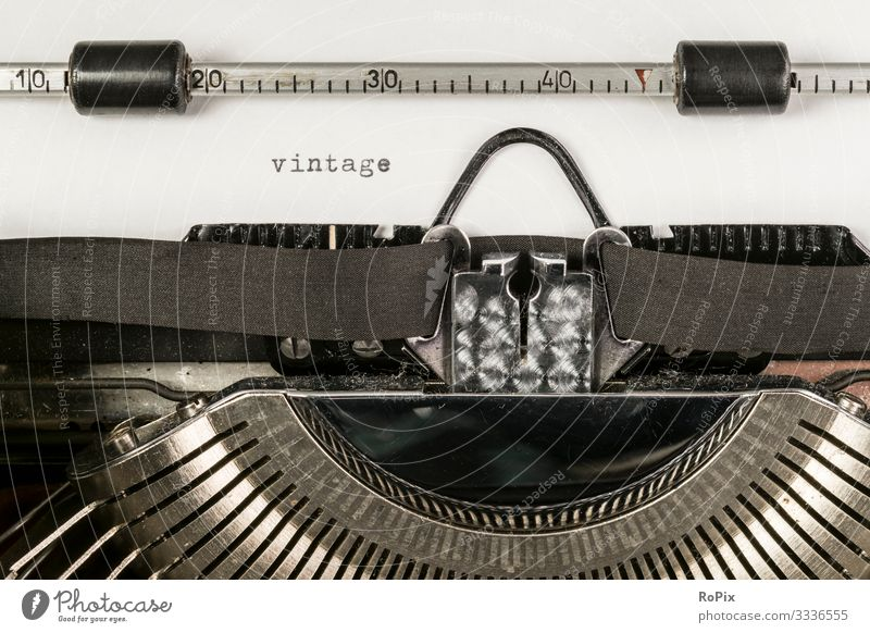 vintage typewriter Lifestyle Style Design Leisure and hobbies Reading Living or residing Education Adult Education School Study Work and employment Workplace