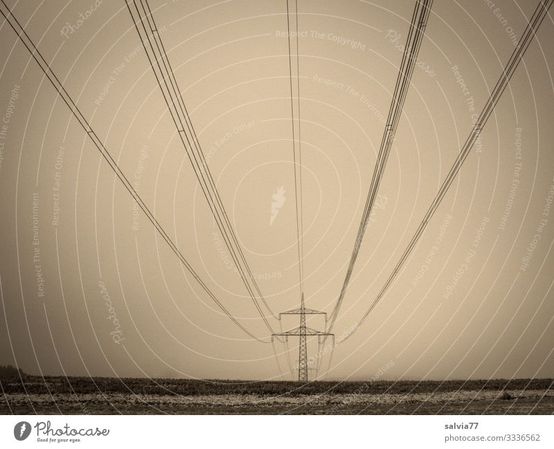 Symmetry | High voltage line High voltage power line Electricity network Energy stream Tension Volt electricity Electricity pylon Technology Transmission lines