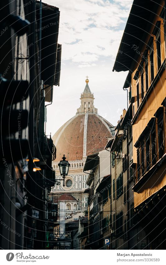 View of the Santa Maria del Fiore cathedral in Florence Architecture Italy Europe Town Downtown Old town Dome Places Roof Landmark