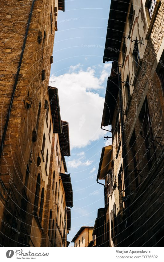 Street view of roof tops in narrow street in Florence Architecture Italy Europe Small Town Old town Building Wall (barrier) Wall (building) Historic Uniqueness