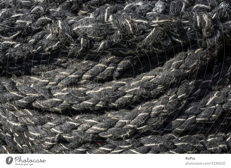 Coil of used mooring ropes. Lifestyle Style Design Leisure and hobbies Handcrafts Vacation & Travel Tourism Sightseeing City trip Science & Research