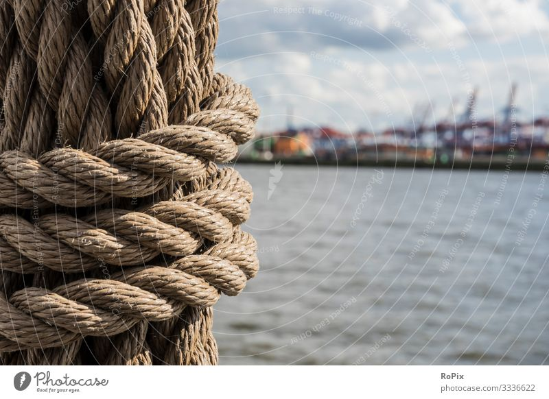 Detail in the harbor of Hamburg. Lifestyle Style Design Wellness Vacation & Travel Tourism Sightseeing City trip Work and employment Profession Workplace