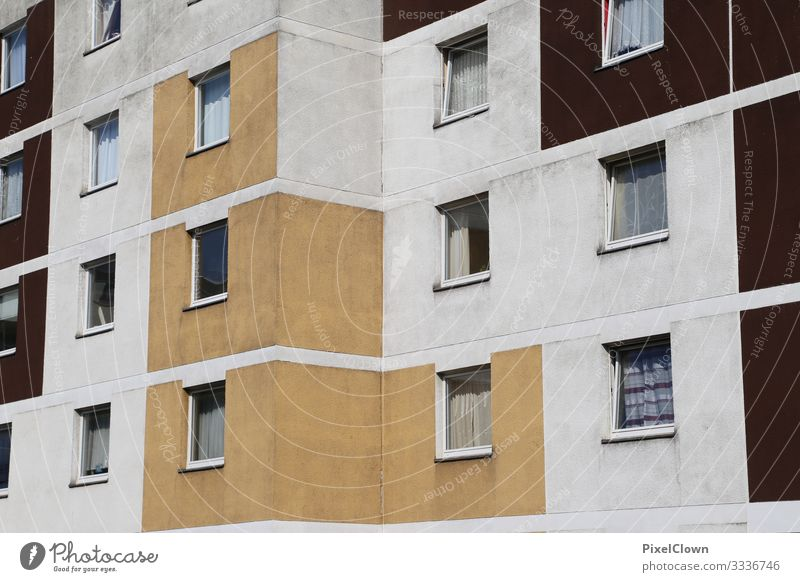 Housing tristess dwell Residential area House (Residential Structure) Apartment house apartment building Wall (building) Facade Window