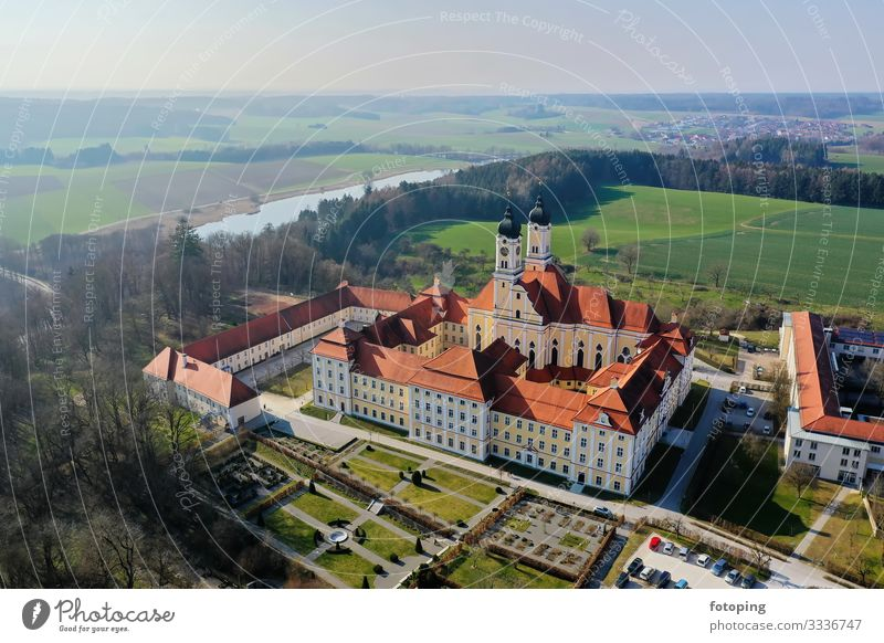 Monastery Roggenburg from above Beautiful Tourism Trip Summer Sun Weather Architecture Tourist Attraction Landmark Monument Historic Religion and faith