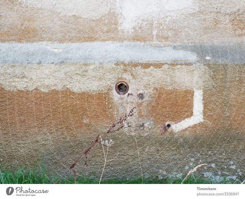 Time Tracks (Multi-Mix) Stone Old Broken Trashy Brown Gray Industrial plant Wall (building) Conduit Hollow Colour photo Exterior shot Deserted Day
