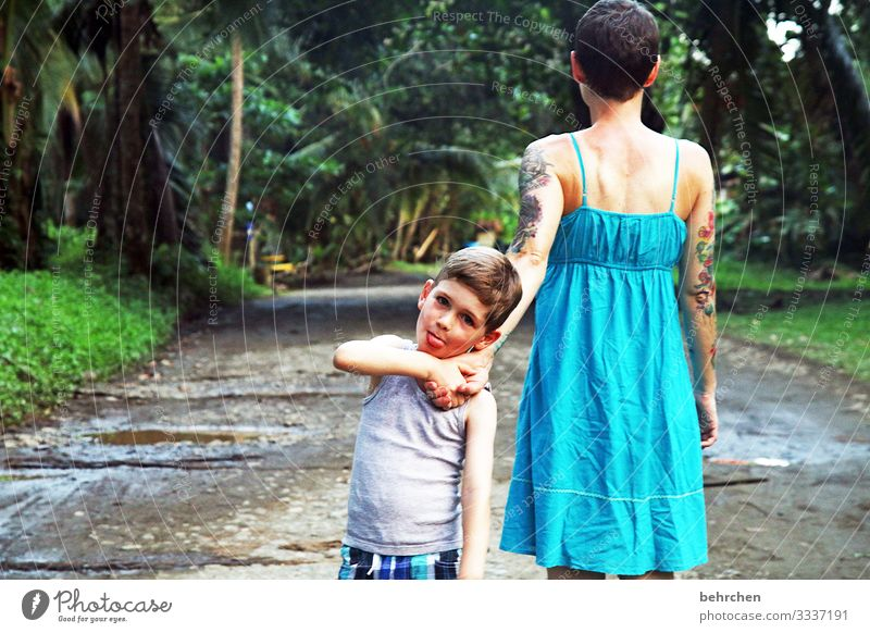 <3 Contentment fortunate Happy Joy Happiness Love stroll Hold hands Mother Trust Adventure Tourism Trip Family Together in common Vacation & Travel Colour photo