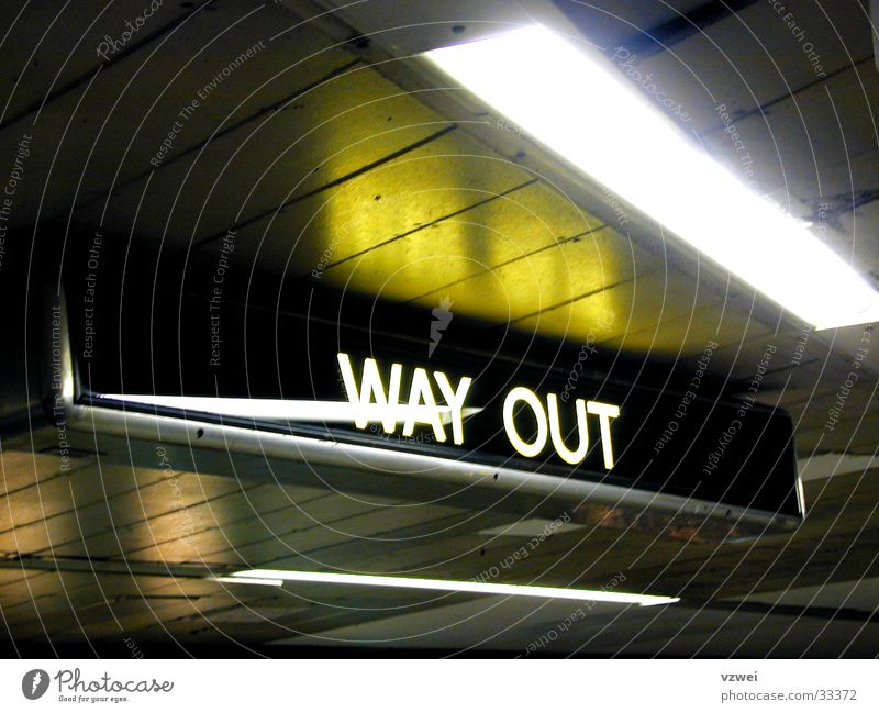Transport London England London Underground Way out